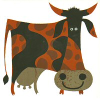 Kenneth Townsend Funky Cow tile